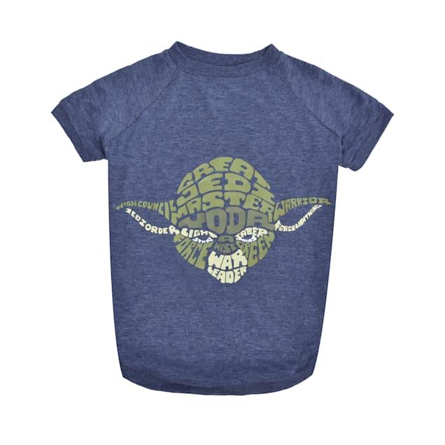 Fetch for Pets Star Wars Blue Yoda Wisdom Dog T-Shirt, Medium - Carousel image #1