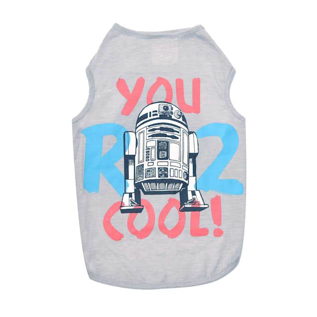Fetch for Pets Star Wars Gray You R 2 Cool Tank Dog T-Shirt, Small - Carousel image #1