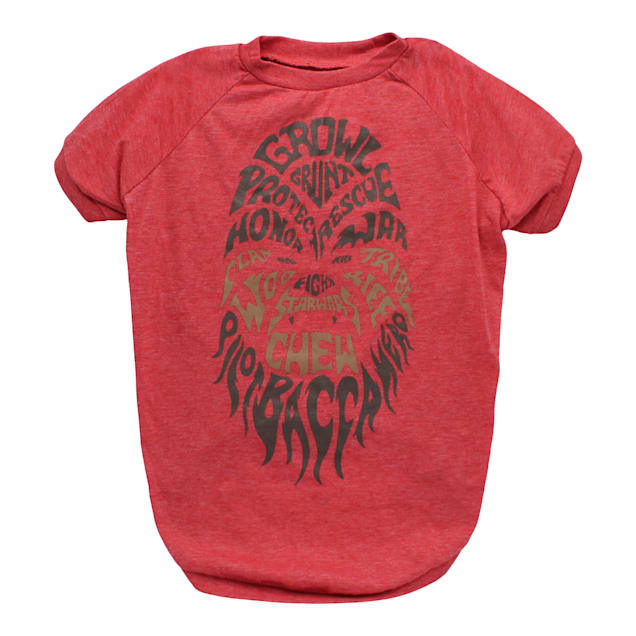 Fetch for Pets Star Wars Red Chewbacca Growl Dog T-Shirt, Small - Carousel image #1