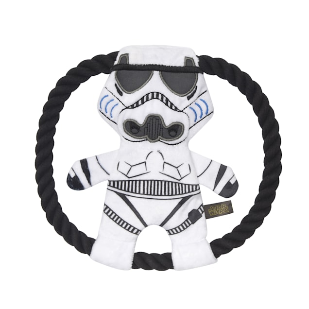 Fetch for Pets Star Wars Storm Trooper Plush Rope Frisbee Dog Toy, Medium - Carousel image #1