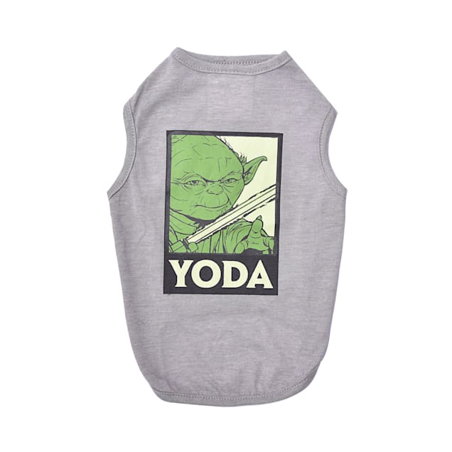 Fetch for Pets Star Wars Gray Yoda Tank Dog T-Shirt, X-Small - Carousel image #1