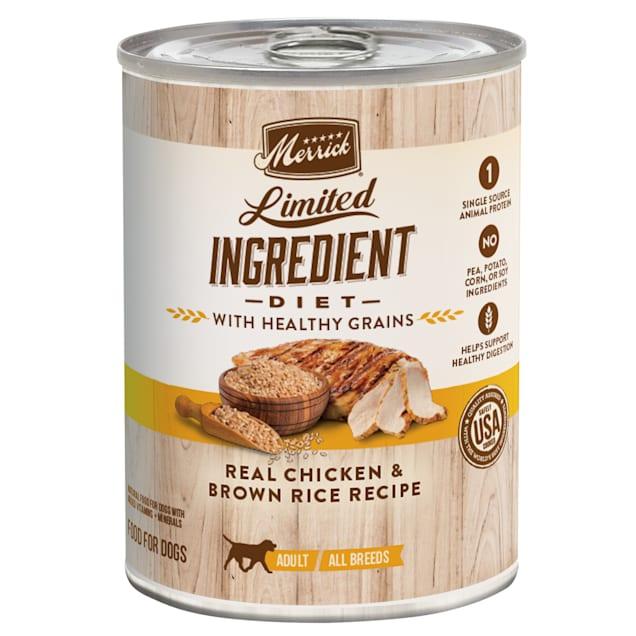 Merrick Limited Ingredient Diet Healthy Grains Real Chicken Recipe Wet Dog Food, 12.7 oz. - Carousel image #1