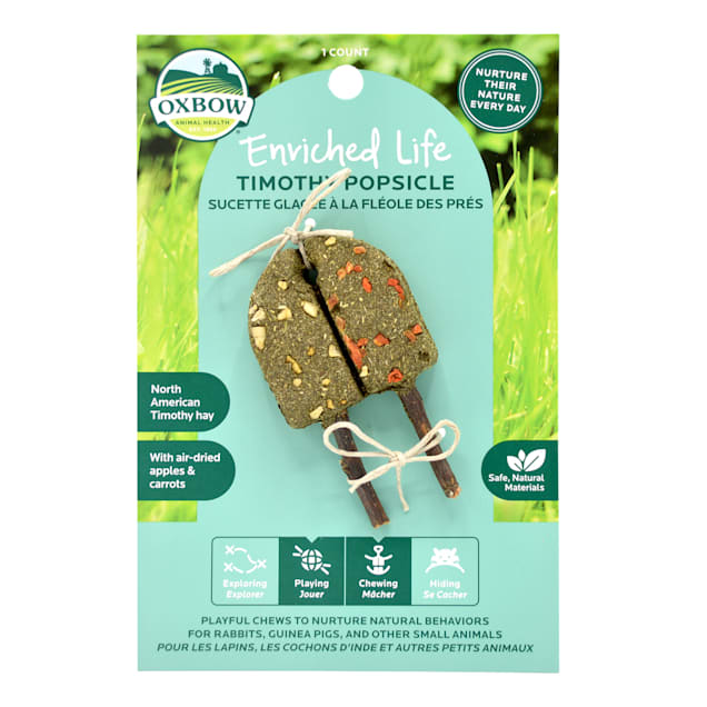 Oxbow Enriched Life Timothy Popsicle for Rabbit, 0.06 lbs. - Carousel image #1