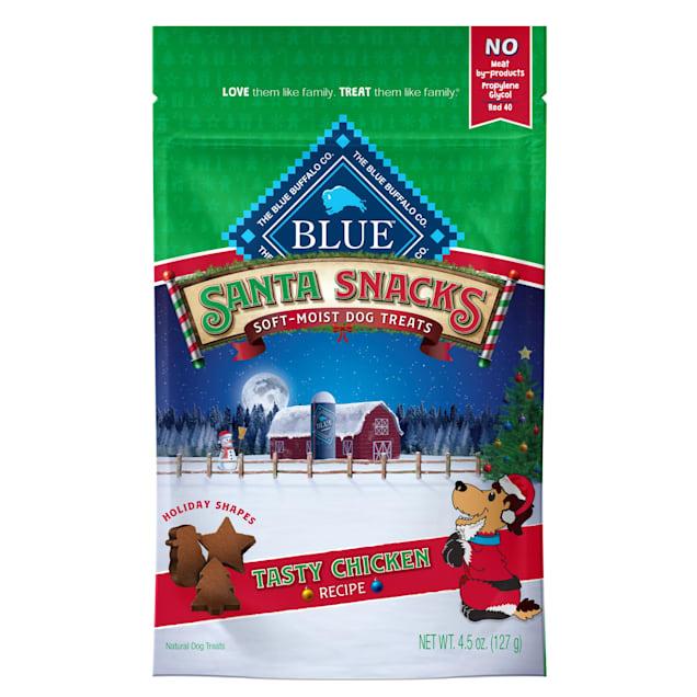 Blue Buffalo Santa Snacks Natural Soft Chicken Dog Treats, 4.5 oz. - Carousel image #1