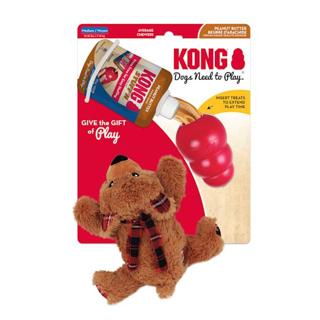 KONG Classic Gift Pack Holiday Dog Toys, Medium - Carousel image #1