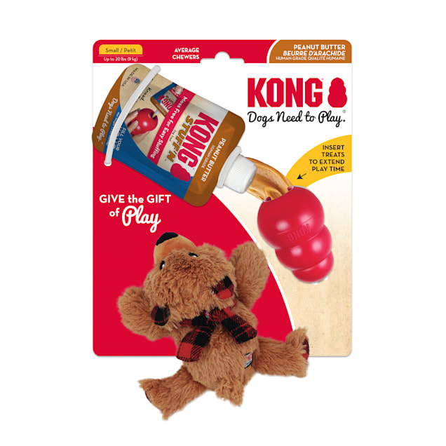 KONG Classic Gift Pack Holiday Dog Toys, Small - Carousel image #1
