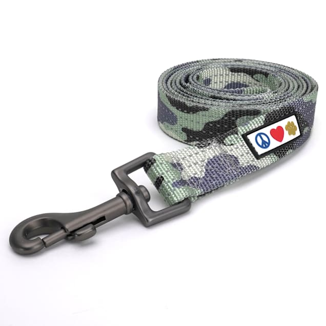 Pawtitas 6 feet Camouflage Grey Reflective Puppy or Dog Leash, X-Small/Small - Carousel image #1
