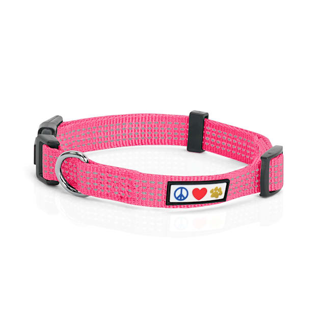 Pawtitas Reflective Pink Puppy or Dog Harness, X-Small - Carousel image #1