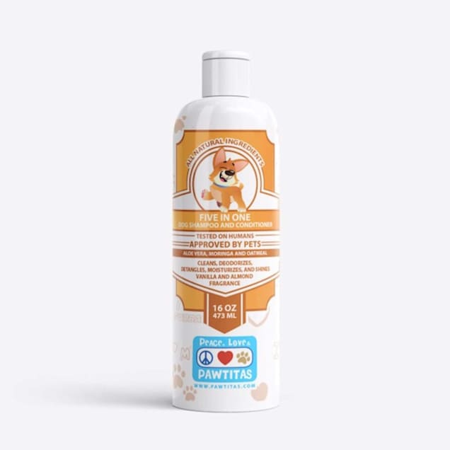 Pawtitas Handcrafted with Certified Organic Ingredients Vanilla and Almond Dog Shampoo and Conditioner, 16 fl. oz. - Carousel image #1