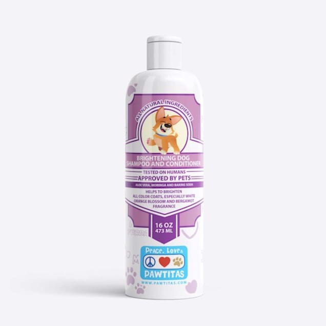 Pawtitas Handcrafted with Certified Organic Ingredients Orange Blossom and Bergamot Dog Shampoo and Conditioner, 16 fl. oz. - Carousel image #1