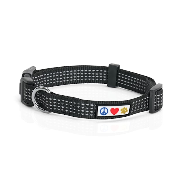 Pawtitas Reflective Black Puppy or Dog Harness, X-Small - Carousel image #1