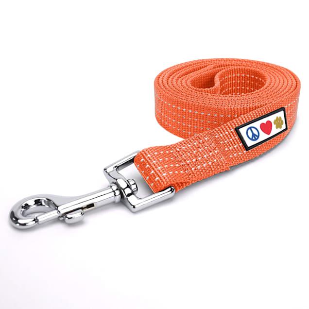 Pawtitas 6 feet Orange Reflective Puppy or Dog Leash, X-Small/Small - Carousel image #1