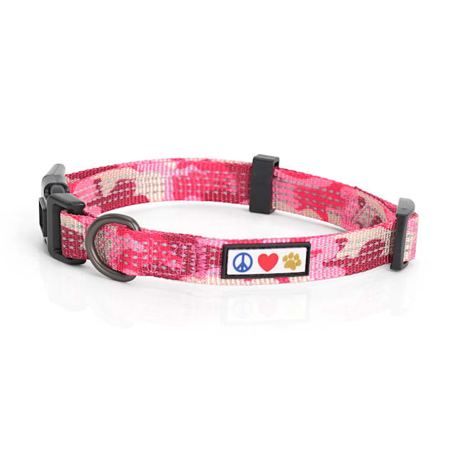 Pawtitas Reflective Camouflage Pink Puppy or Dog Collar, X-Small - Carousel image #1