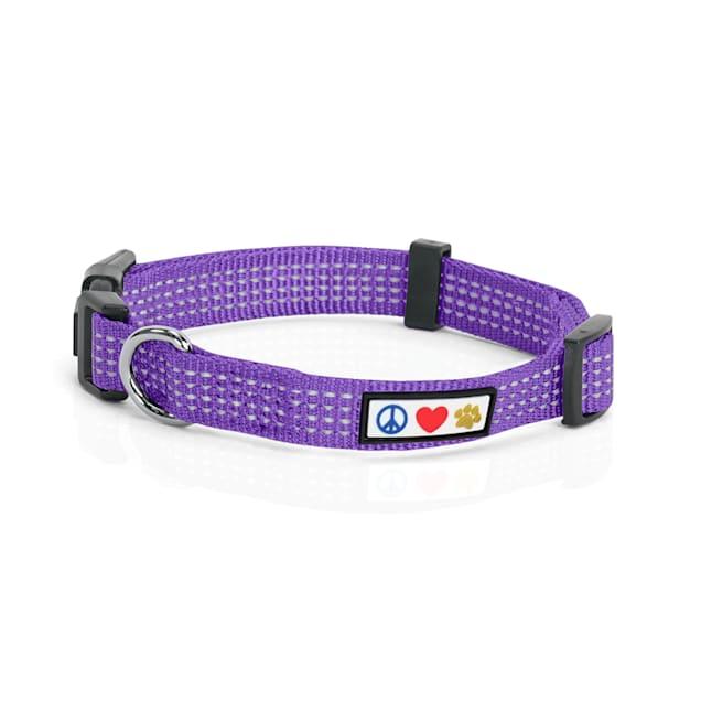 Pawtitas Reflective Purple Puppy or Dog Collar, X-Small - Carousel image #1
