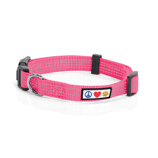 Pawtitas Reflective Pink Puppy or Dog Collar, X-Small - Carousel image #1