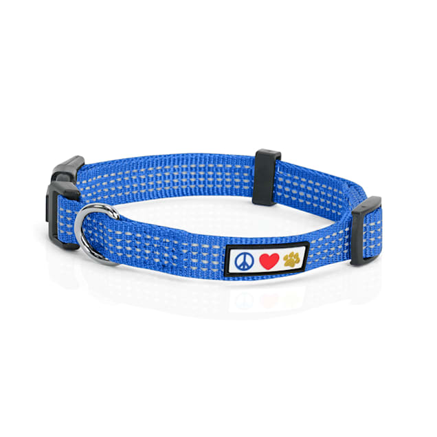 Pawtitas Reflective Blue Puppy or Dog Collar, X-Small - Carousel image #1