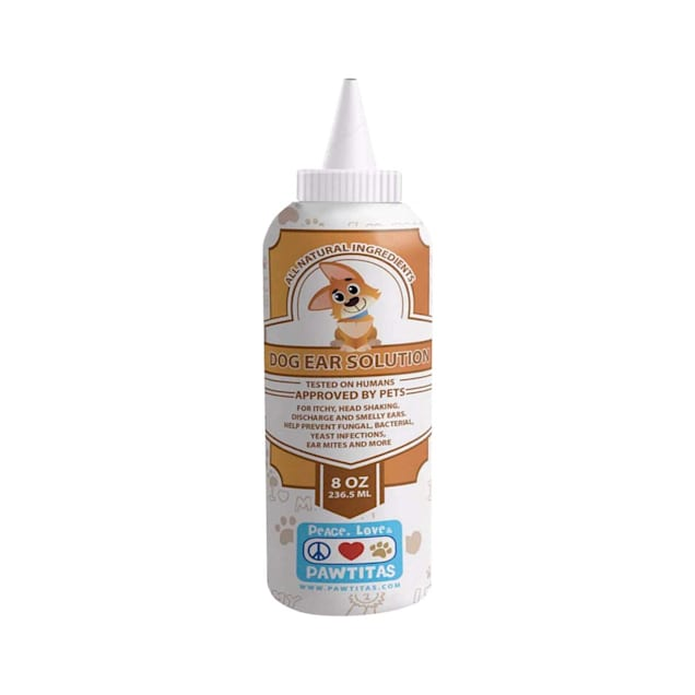 Pawtitas Natural Ear Cleaner Manufactured with Certified Organic Ingredients for Dogs, 8 fl. oz. - Carousel image #1