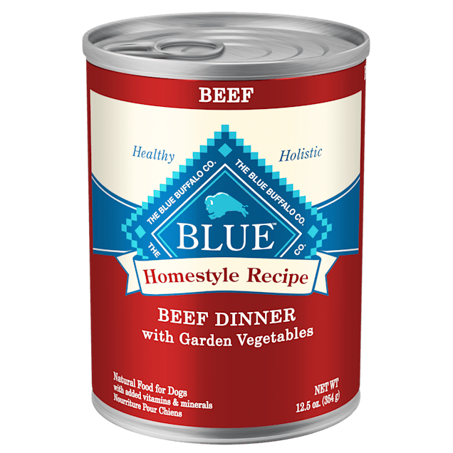 Blue Buffalo Blue Homestyle Recipe Beef Dinner with Garden Vegetables Wet Dog Food, 12.5 oz., Case of 12 - Carousel image #1