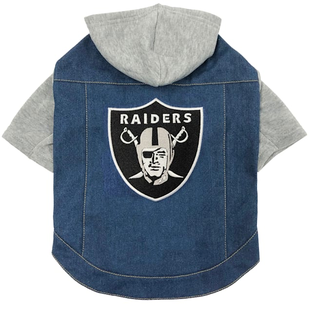 Pets First Raiders Denim Hoodie for Dogs, Medium - Carousel image #1