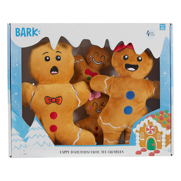 BARK Happy Howlidays! From the Crumbles Dog Toy, Medium - Carousel image #1