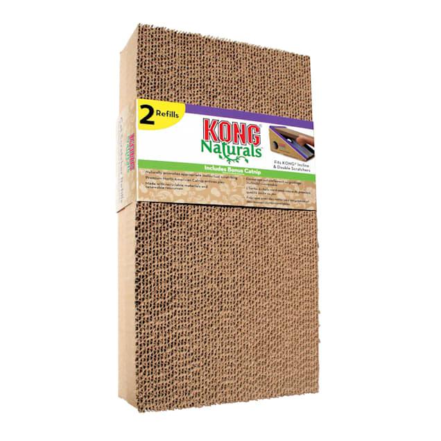 KONG Naturals Refill Incline & Double Cat Scratchers, Medium, Pack of 2 - Carousel image #1