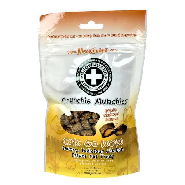 Meowijuana Crunchie Munchie Chicken Catnip Cat Treats, 3 oz. - Carousel image #1