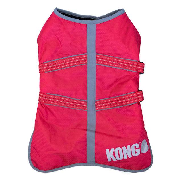 KONG Red Rip-Stop Dog Blanket Coat, Small - Carousel image #1