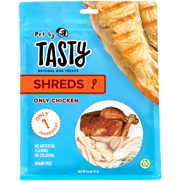 Pet by Tasty Natural Grain Free Freeze Dried Only Chicken Shreds Dog Treats, 0.6 oz. - Carousel image #1