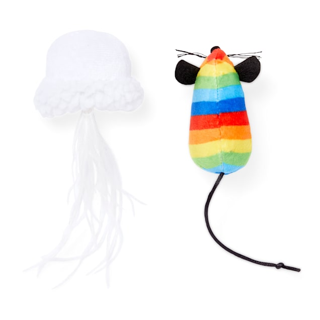 Rainbow Mouse Cat Toy-2 Pack