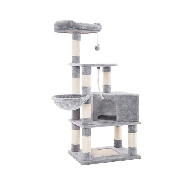 "Feandrea Light Gray Cat Tree Condo, 54.3"" H - Carousel image #1"