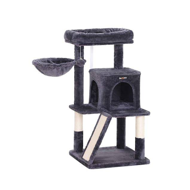 "Feandrea Dark Gray Cat Tree Condo, 37.8"" H - Carousel image #1"