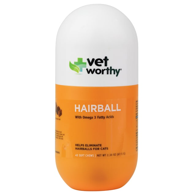 Vet Worthy Hairball Aid Soft Chews for Cats, Count of 45 - Carousel image #1