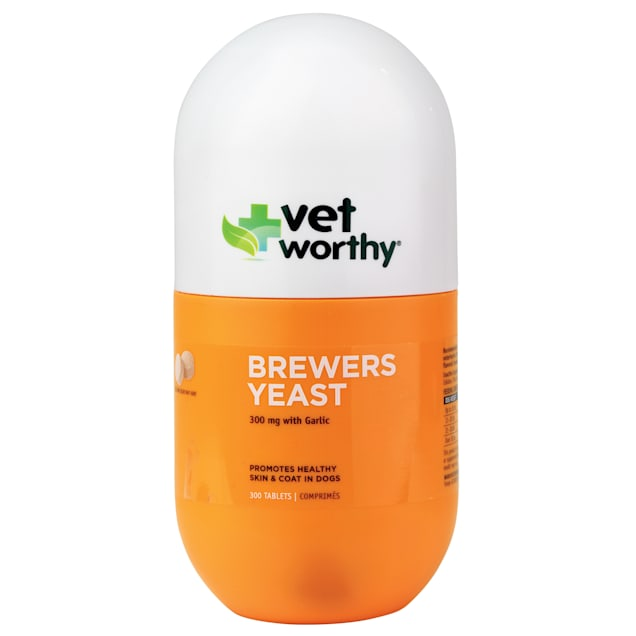 Vet Worthy Brewers Yeast Chewable Tablets for Dogs, Count of 300 - Carousel image #1