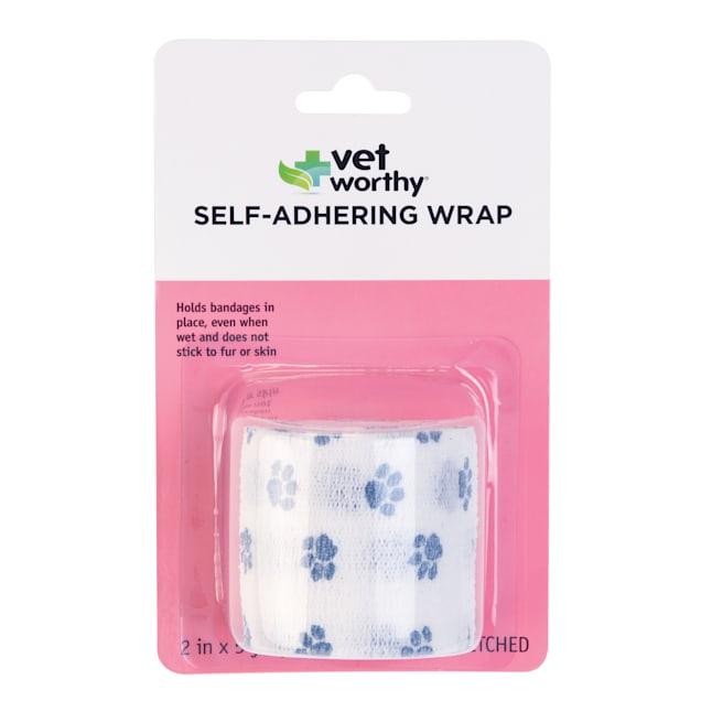 Vet Worthy Self-Adhering Wrap in Paw Prints Pattern for Pets - Carousel image #1