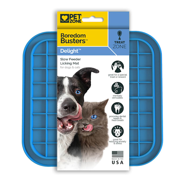 Cosmic Pet PET ZONE Boredom Busters Delight Slow Feeder Licking Mat for Dogs & Cats, Small/Medium - Carousel image #1