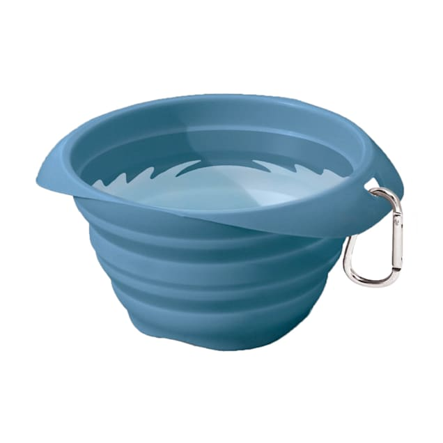 Kurgo Blue Collaps-A-Bowl for Dogs - Carousel image #1