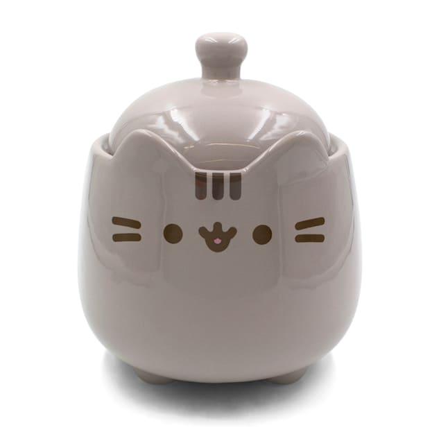 Pusheen Ceramic Treat Jar for Cats, Large - Carousel image #1