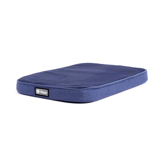 "Diggs Snooz CertiPUR-US Blue Memory Foam Dog Crate Pad Bed, 24.8"" L X 16"" W X 2"" H - Carousel image #1"