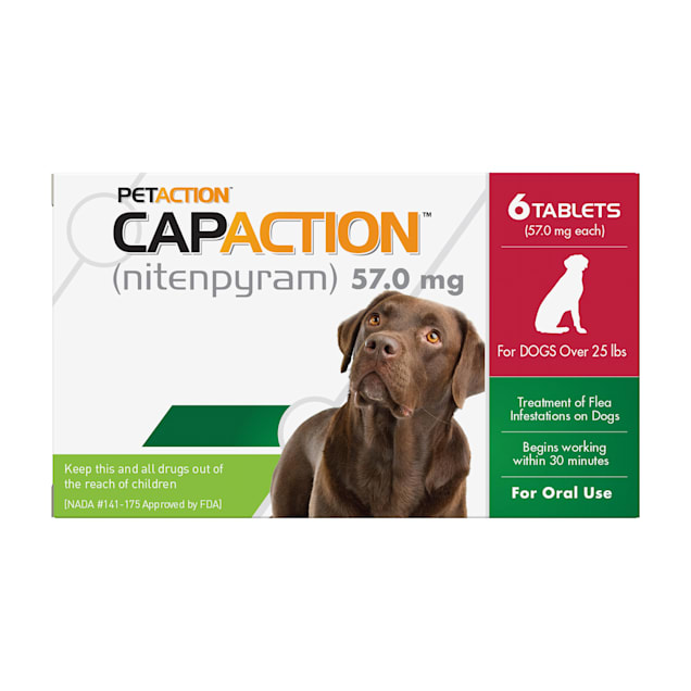 CapAction Fast Acting Oral Flea Treatment for Large Dogs, Count of 6 - Carousel image #1