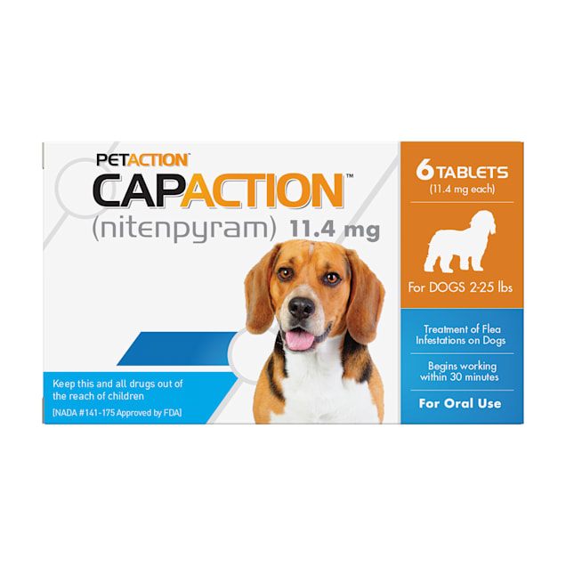 CapAction Fast Acting Oral Flea Treatment for Small Dogs, Count of 6 - Carousel image #1