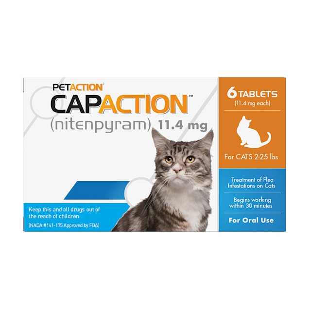 CapAction Fast Acting Oral Flea Treatment for Cats, Count of 6 - Carousel image #1