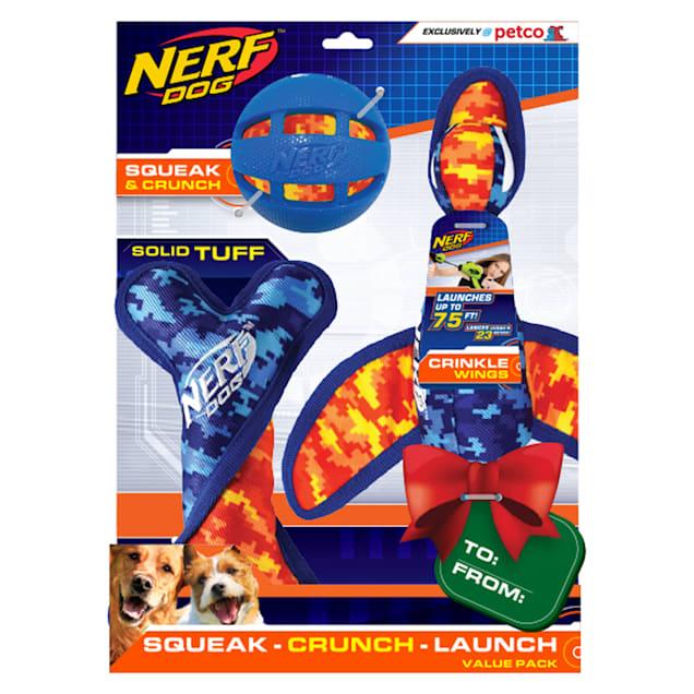Nerf Camo Tuff Gift Set Toys for Dogs, Medium - Carousel image #1