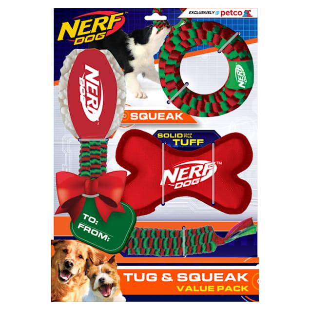 Nerf Holiday Tuff Gift Set Toys for Dogs, Medium - Carousel image #1