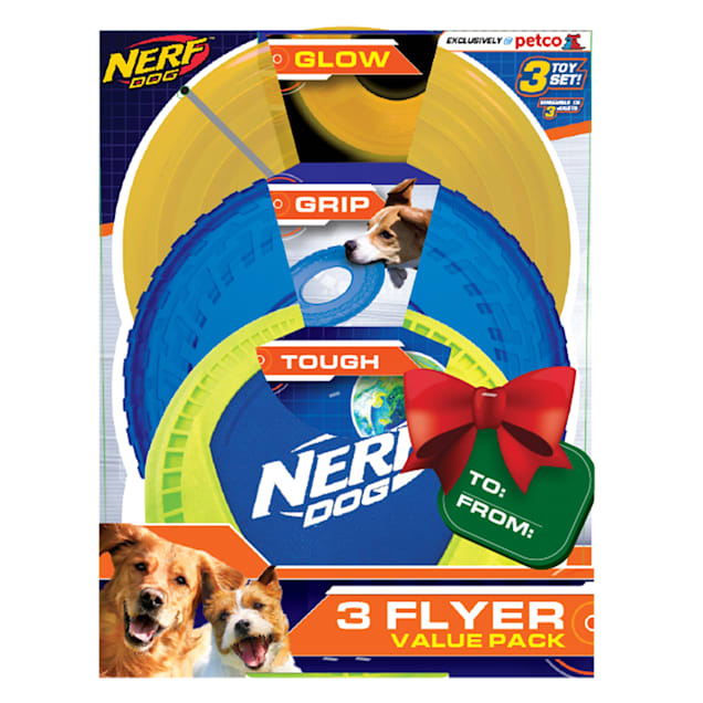 Nerf Flyer Gift Set Toys for Dogs, Medium, Pack of 3 - Carousel image #1