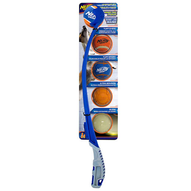 Nerf Translucent Air Strike Launcher Gift Set Toys for Dogs, Medium, Pack of 5 - Carousel image #1