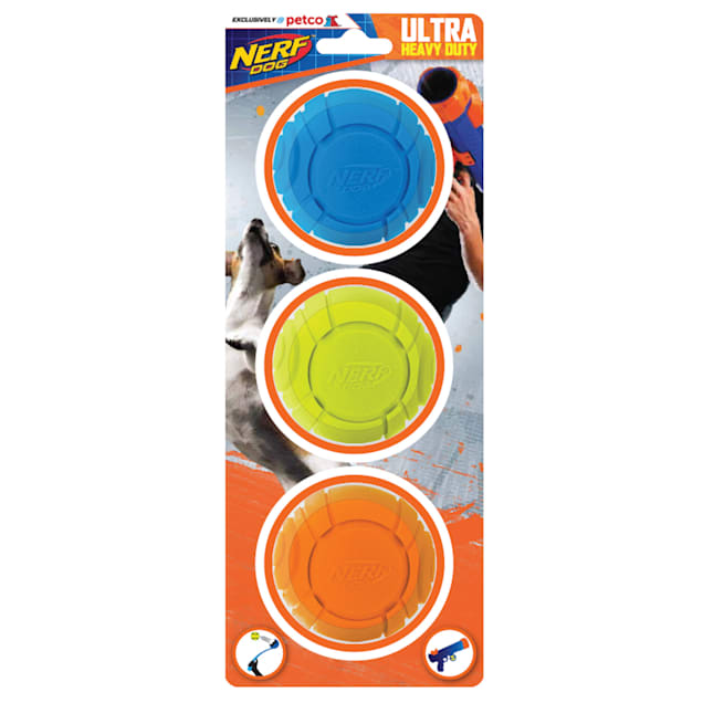 Nerf Foam TPR Sonic Ball Gift Set Toys for Dogs, Medium, Pack of 3 - Carousel image #1