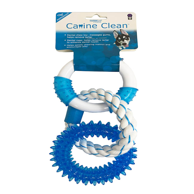 Multipet Canine Clean Peppermint 3 Rings Dental Dog Toy, Medium - Carousel image #1