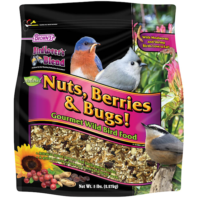 FM Browns Bird Lover's Blend Nuts Berries & Bugs Blend Dry Food, 5 lbs. - Carousel image #1