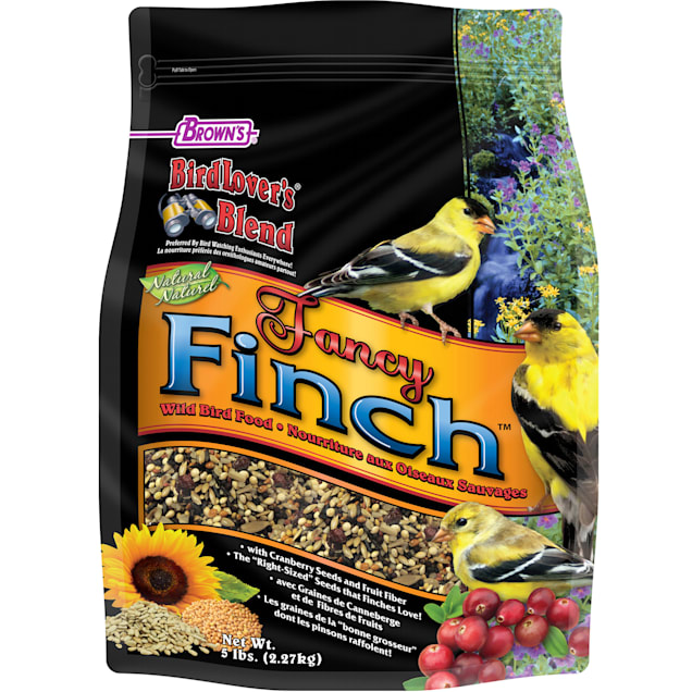 FM Browns Bird Lover's Blend Fancy Finch with Cranberries Dry Food, 5 lbs. - Carousel image #1