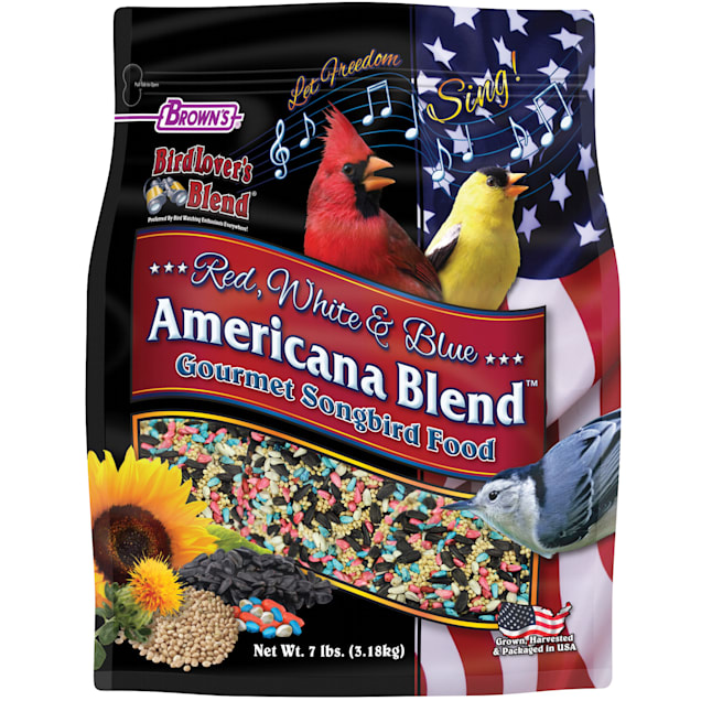 FM Browns Bird Lover's Blend Red, White and Blue Americana Blend Dry Food, 7 lbs. - Carousel image #1